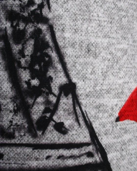 40672f790854 Pleteninový úplet melange - raport Paríž v červenej zväčšiť obrázok